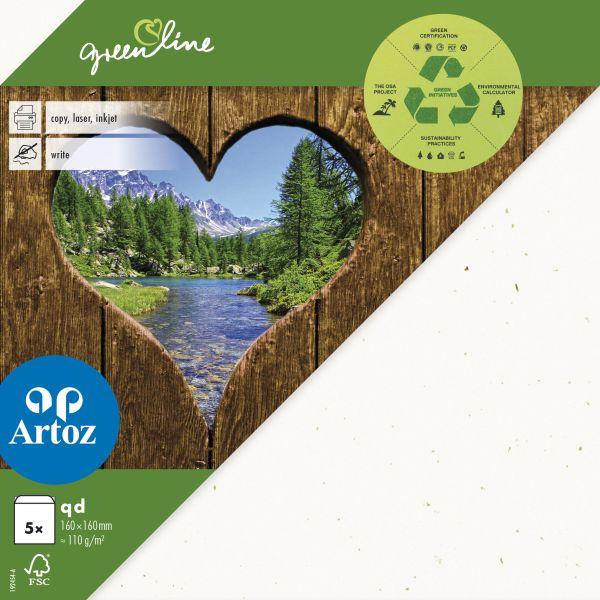 Kuvert Green Line 160x160 Ofodr. 5-p 118g tortilla 242 (12F) Best. vara