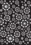 Design Paper A4 Flowers black, white Best. vara