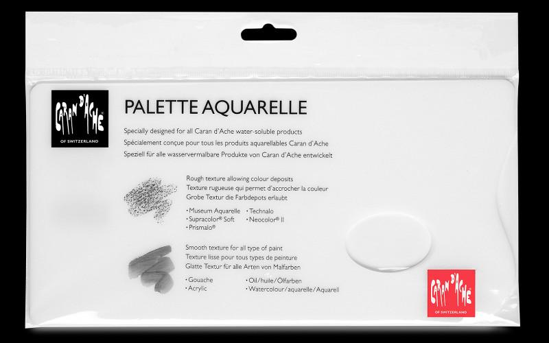 Palett Artist Plexiglass palette Caran d´ache white 26x13cm