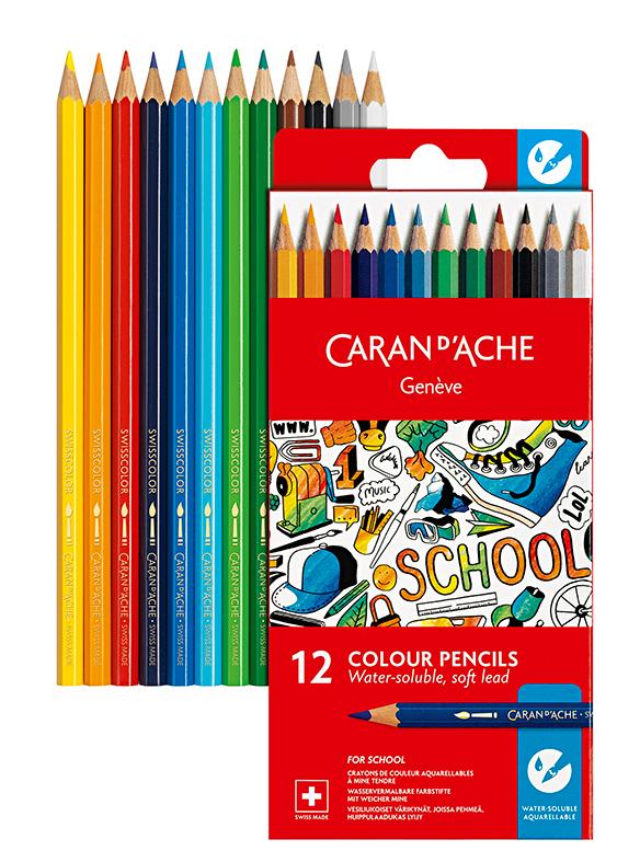 Skolset Caran d´Ache Watersoluble color pencils 12 pcs