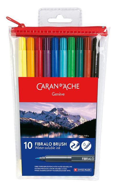 Fiberpennset Caran d´Ache FIBRALO 10 pennor