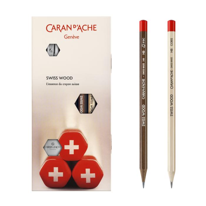 Grafitpennset Caran d´Ache 2 pennor+sudd+vässare