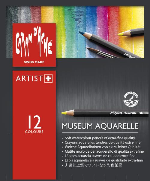 Akvarellpennset Caran d´Ache MUSEUM 12 pennor 312