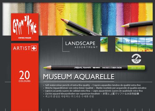 Akvarellpennset Caran d´Ache MUSEUM  LANDSC. 20 pennor 420 (5F)