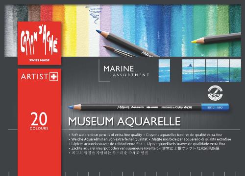 Akvarellpennset Caran d´Ache MUSEUM MARINE 20 pennor 920 (5F)