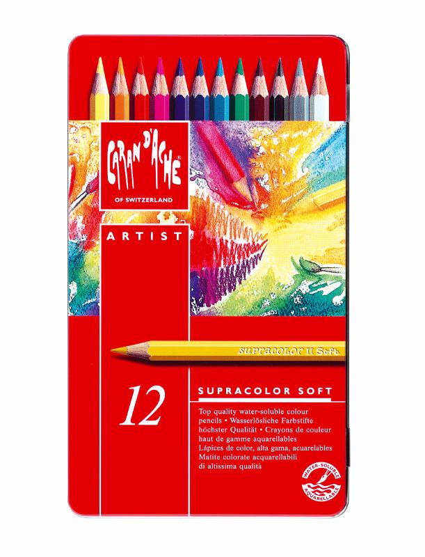 Akvarellpenna Caran d´Ache Supracolor 12 sort   312 (5F)