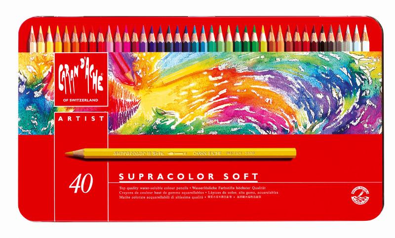 Akvarellpenna Caran d´Ache Supracolor 40 sort   340 (3F)