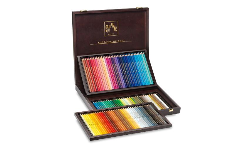 Akvarellpenna Caran d´Ache Artist´ Träskrin Supracolor 120pennor 920