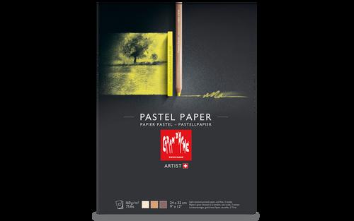 Pastellblock Caran d´Ache 160g 24x32cm 12ark 3 färger