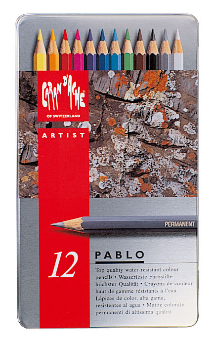 Färgpenna Caran d´Ache Artist Pablo 12 sort      312 (5F)