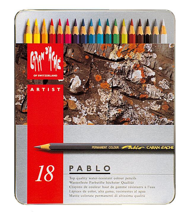Färgpenna Caran d´Ache Artist Pablo 18 sort    318 (5F)
