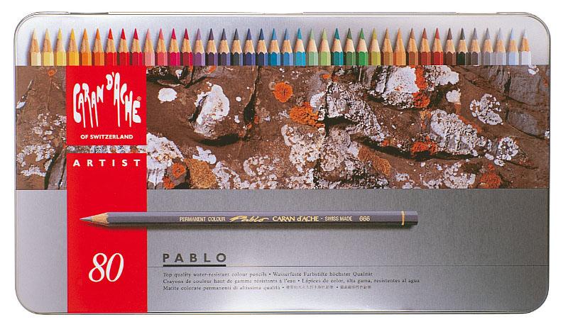 Färgpenna Caran d´Ache Artist Pablo 80pennor    380