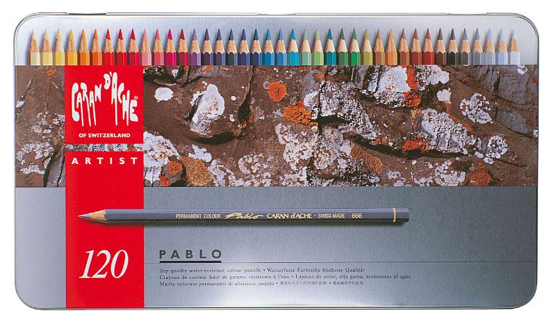 Färgpenna Caran d´Ache Artist Pablo 120pennor   420