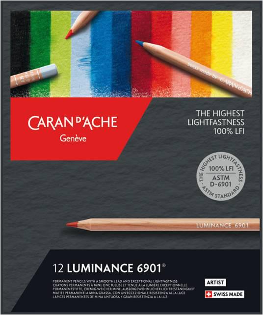 Färgpennset Caran d´Ache Luminance 6901 12 sort (5F)