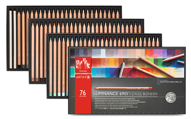 Färgpennset Caran d´Ache Luminance 6901 76 sort (3F)