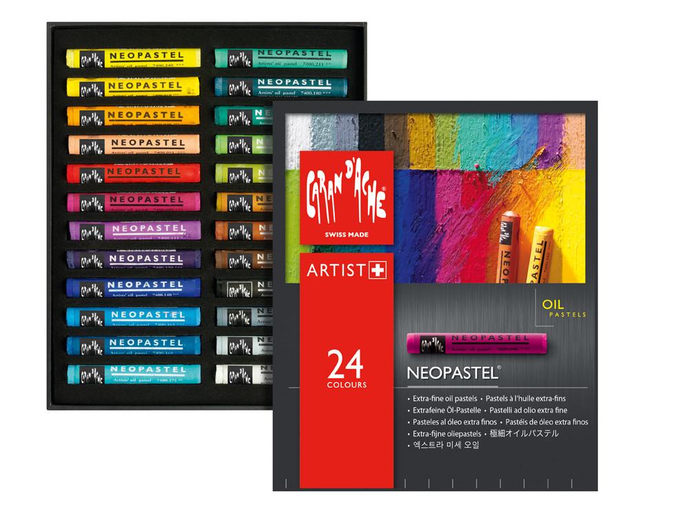 Oljepastell Caran d´Ache NeoPastel 24 sort   324 (5F)