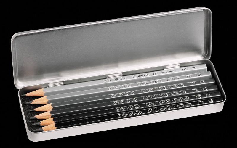 Blyertspennset Caran d´Ache Grafwood 6 pennor
