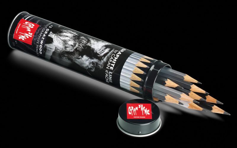 Blyertspennset Caran d´Ache Grafwood 15 pennor