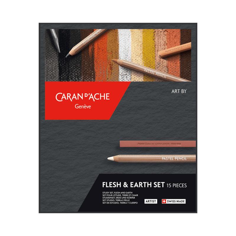 Pennset Caran d´Ache Art by flesh & earth 15 delar