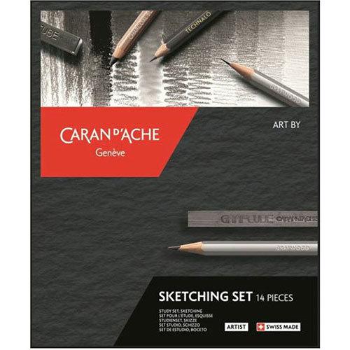 Pennset Caran d´Ache Art by sketching 14 delar