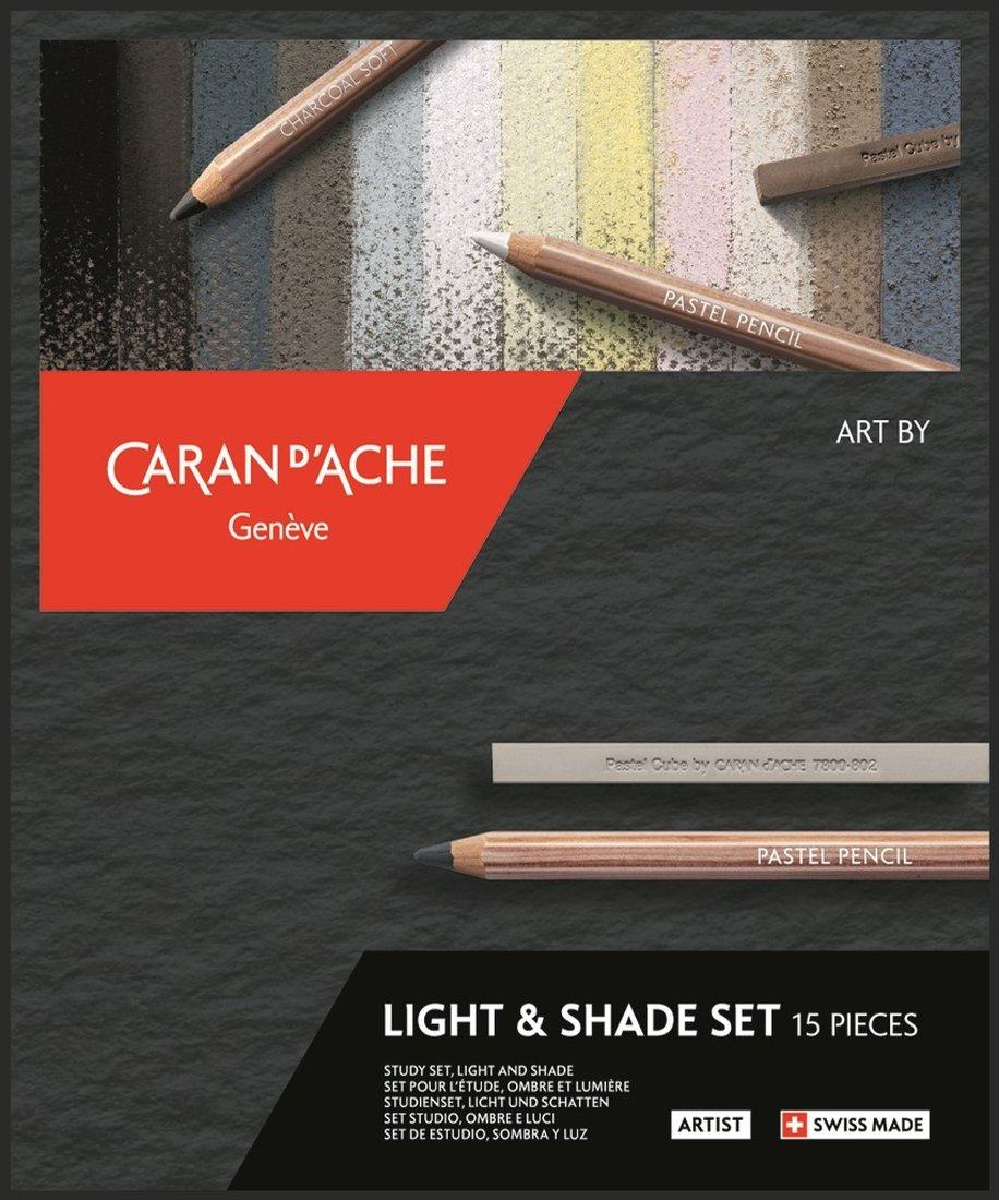 Pennset Caran d´Ache Art by light & shade 15 delar
