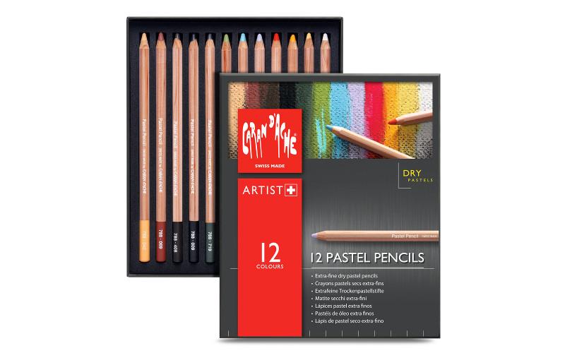 Pastellpennset Caran d´ache 12 pennor