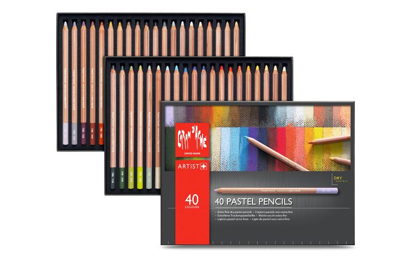 Pastellpennset Caran d´ache 40 pennor