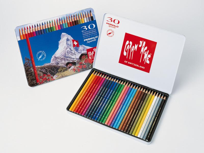 Akvarellpennset Caran d´Ache Prismalo 30 sort pennor  330