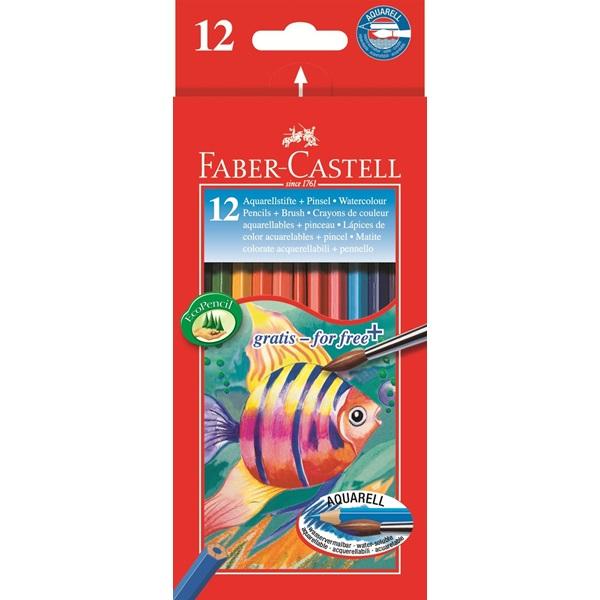 Akvarellpennset Faber-Castell Redline 12 pennor (6F)