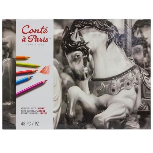 Pastellpennset Conté á Paris 48 ask