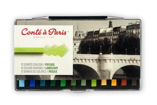 Pastellkritset Conté á Paris Carre Landskap 12 st ask
