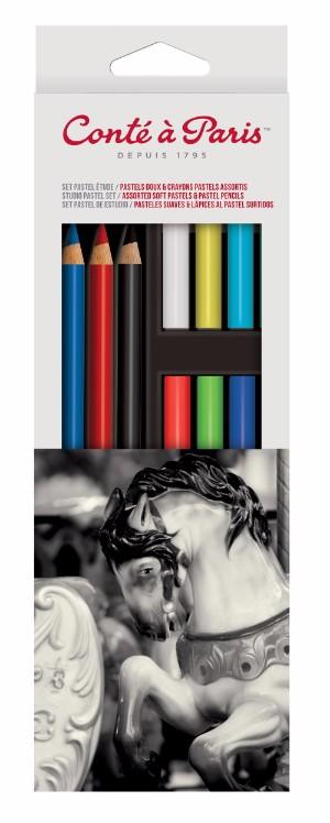 Pastellkritset Conté á Paris Carre Pastel studioset (6F)