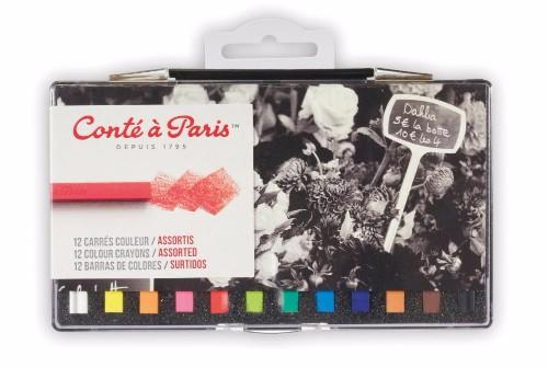 Pastellkritset Conté á Paris Carre Assorted 12 st blister (6F)