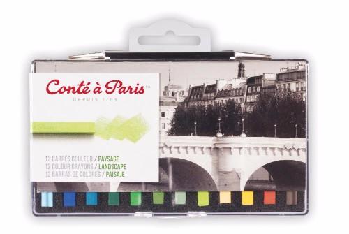 Pastellkritset Conté á Paris Carre Landskap 12 st blister (6F)