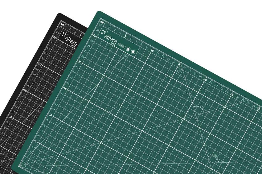 Skärmatta Altera PRO Line CMP-GB A3 - 3mm - Dubbelsidig Grön/Svart