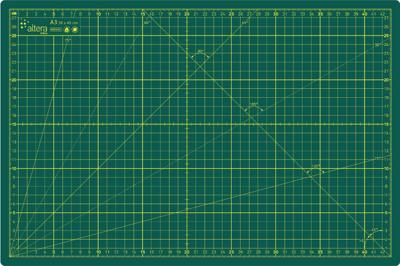 Skärmatta Altera HOBBY Line CMH-GG A1 - 3mm - Enkelsidig Grön