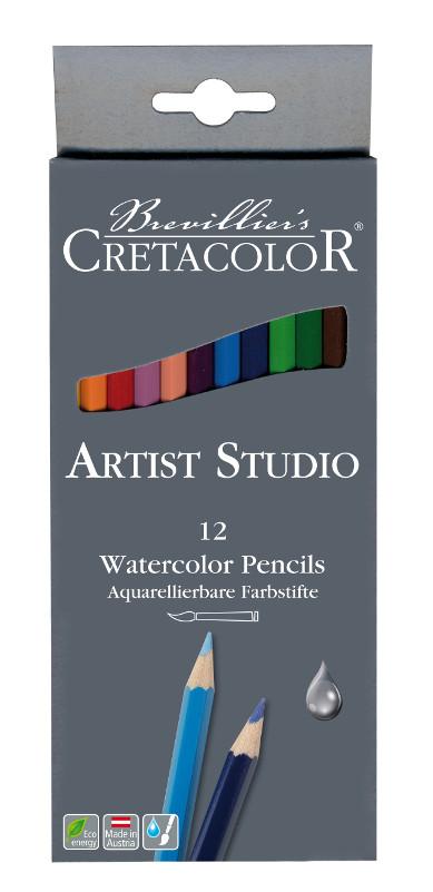 Akvarellpennset Cretacolor Artist Studio Line - 12pennor 28312
