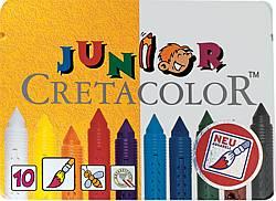 BarnKritset Cretacolor Vax Vattenlöslig. 10 färger. (6F)