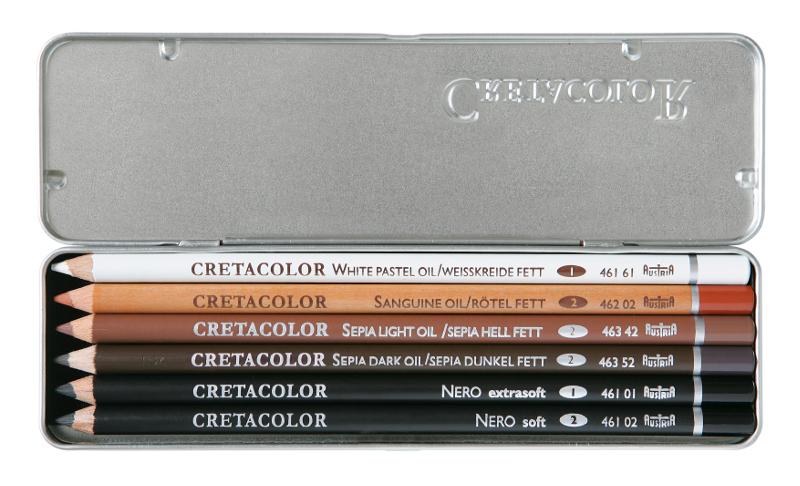 Oljepennset Cretacolor 6 sorterade pennor