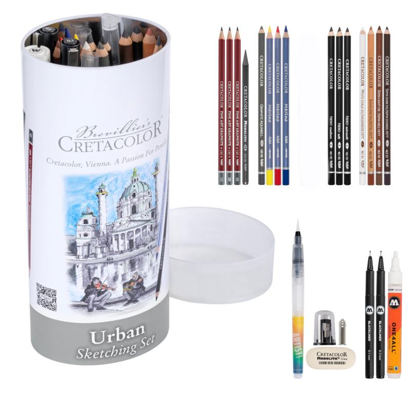 Pennset Cretacolor Urban Sketching set 24 delar