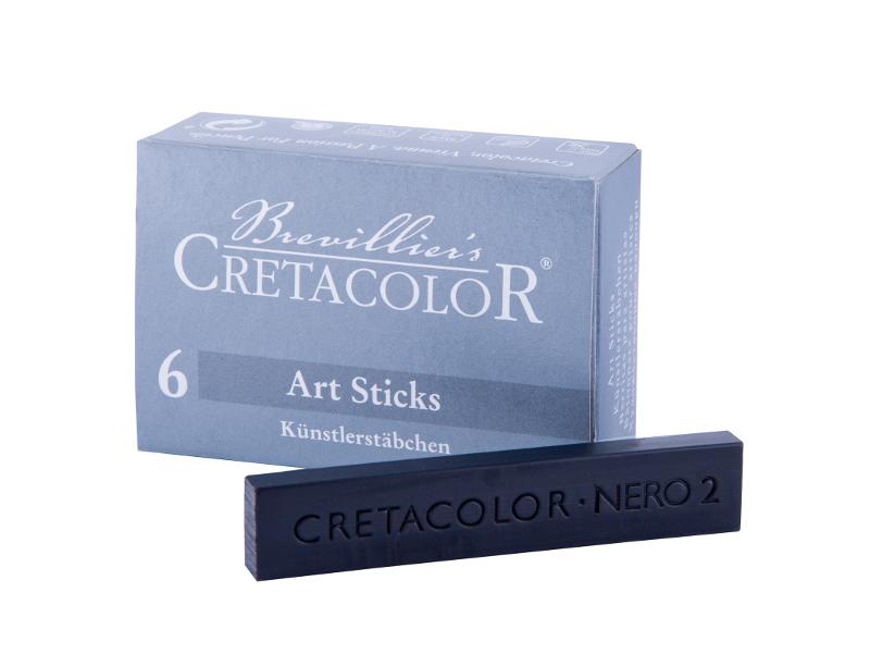 Pastellkrita Cretacolor ArtStick Nero Soft  13x6mm (6F)