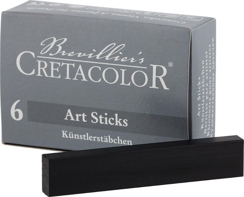 Pastellkrita Cretacolor ArtStick Nero Medium  13x6mm (6F)