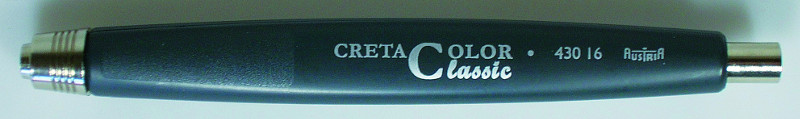 Stifthållare Cretacolor  5,6mm 3-kantig, svartplast Classic
