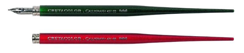 Kalligrafi Pennskaft  Cretacolor röd/grönt skaft (5F)