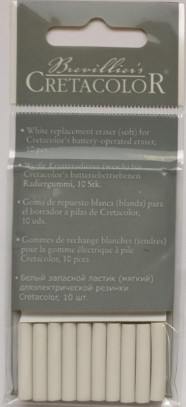 Suddigummi Cretacolor Refill till  Batteridriven 10-p