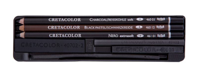 Kolset Cretacolor Charcoal Pocket set 8 delar