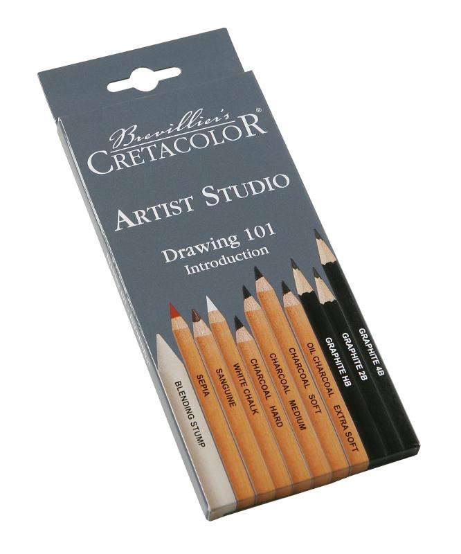 Skisspennset Cretacolor Artist Studio Line - Drawingset 101 11pennor (46511)