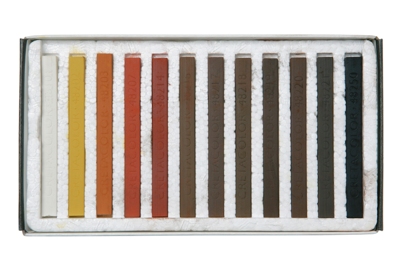 PastellKritsetCretacolor Set med 12st kritor. Brun/Röd