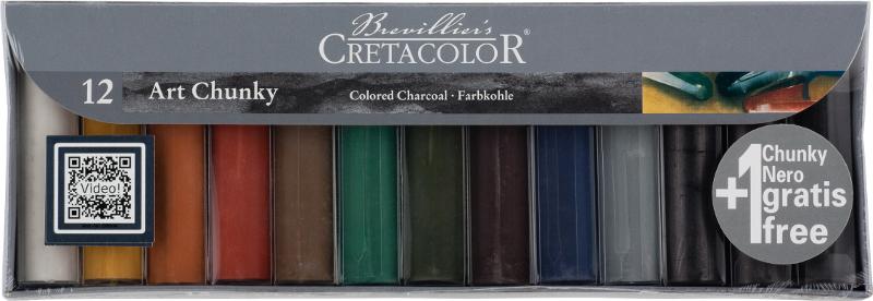 Ritkolskrita ArtChunky Cretacolor 12 sorterade färger i pappask. (3F)