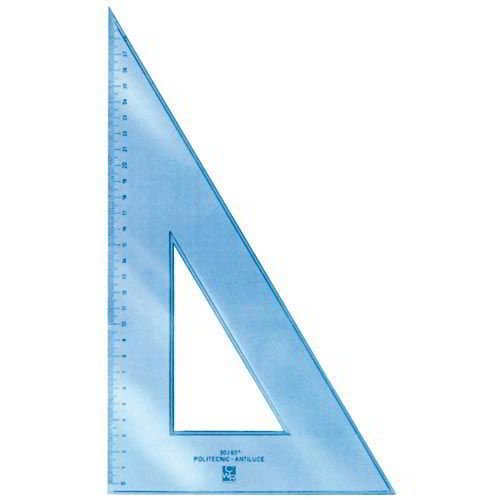 Vinkel, plast 35cm/60° - 569
